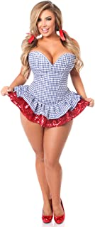 Daisy corsets Top Drawer 2 PC Sequin Kansas Girl Corset Dress Costume