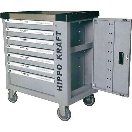 Carro de Herramientas taller profesional bandeja sup. INOX 7 CAJONES herramientas de REGALO 345pzs, ruedas, armario lateral, cierre de seguridad en cada cajón y cerradura centralizada con llave