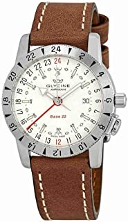 Glycine Airman Base 22 GMT Automatic White Dial Mens Watch GL0201