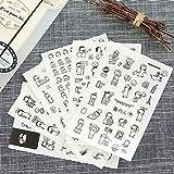 BLOUR 6 Hojas/Juego de Bonitas Pegatinas de pingüino manuales caseras Coreanas decoración de papelería DIY Diario álbum de Recortes/Pegatinas Impermeables