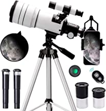 ToyerBee Telescope for Kids &Adults &Beginners,70mm Aperture 300mm Astronomical Refractor Telescope(15X-150X),Portable Tra...