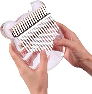 Kalimba 17 Keys Thumb Piano, Easy to Learn Portable Musical Instrument Gifts for Kids Adult Beginners with Tuning Hammer a...