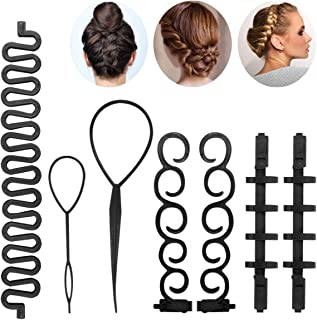 Hair Styling Set Kit - Hair Braiding Tool Hair Design Styling Tools Accessories Hairdressing Tools DIY Hair Styling Tool M...