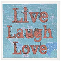 Patricia Sanders Inspirations–ターコイズと赤Live Laugh Love–グリーティングカード Set of 12 Greeting Cards