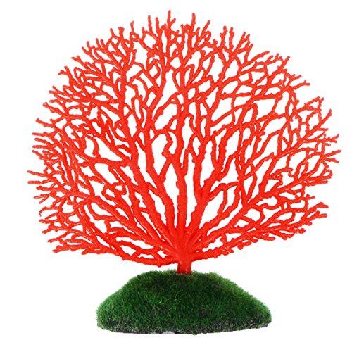 POPETPOP Corallo Artificiale Ornamento Decorazione Corallo Fluorescente per Acquario Serbatoio di Pesce (Rosso)
