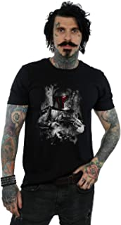 Star Wars Hombre Boba Fett Distressed Camiseta