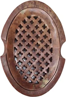 Heavy 3 Piece Brown-Tan Natural Stone Marble Bath Bathroom Accessory Set