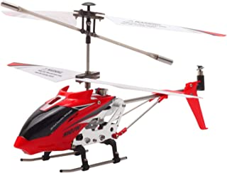 POCO DIVO S107H Altitude Hold 2.4Ghz RC Helicopter One-Key Launching/Landing Beginner Flight Mini 3CH Metal Gyro Heli, Red