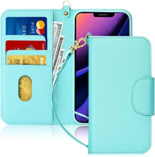 """FYY Case for iPhone 11 Pro 5.8"""", [Kickstand Feature] Luxury PU Leather Wallet Case Flip Folio Cover with [Card Slots] and [Note Pockets] for Apple iPhone 11 Pro 5.8 inch Mint Green"""