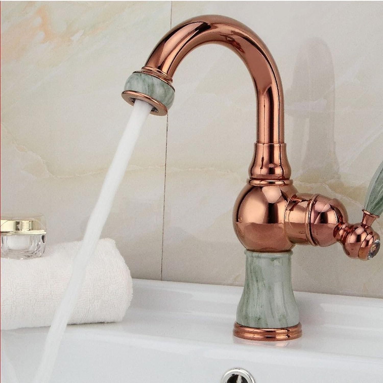 LHS European natural jade lavatory faucet
