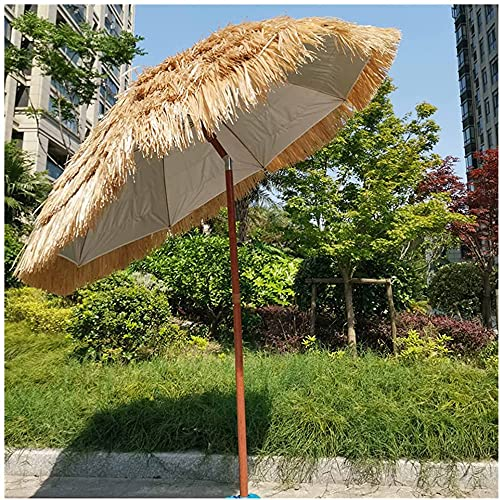 ZHIRCEKE Paja de ultrasonido Inclinado Ajustable, Impermeable Sol Diámetro de Visera de 180 cm 180 cm Paraguas exótico, para Piscina Patio Hawaii Parasol