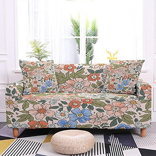 WXQY Funda de sofá de Sala de Estar con diseño de Flores de Margarita Funda de sillón elástica Funda de sofá elástica decoración del hogar A3 4 plazas