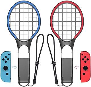 MaxKu【2019 登場】 Nintendo Switch テニスラケット マリオテニス エース Joy-Conハンドル スイッチ ジョイコン専用 ラケット型 任天堂スイッチコントローラ Joy-con おもちゃのテニスラケット【グレー2個】