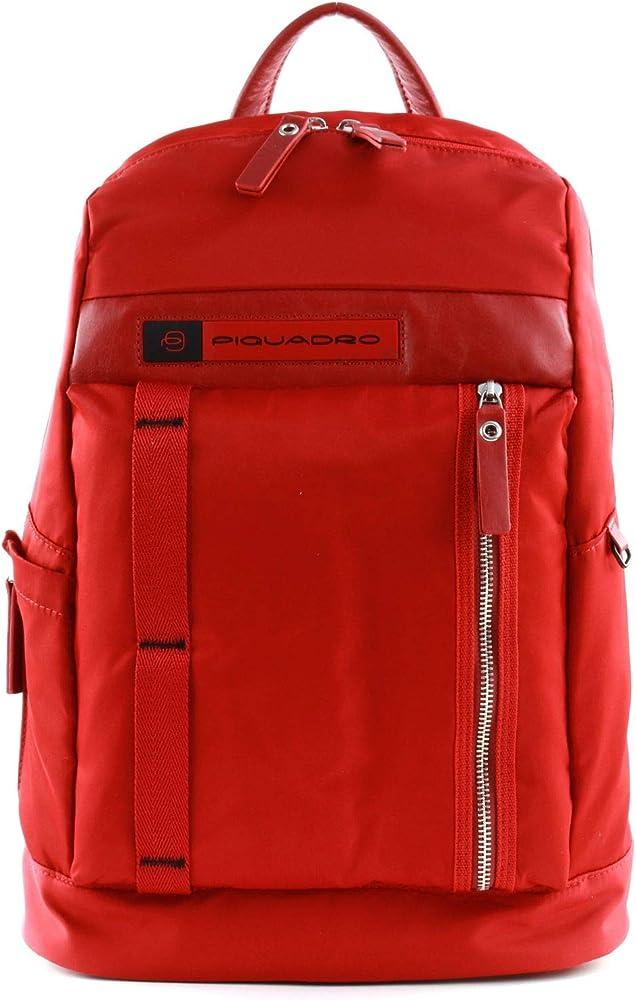 Piquadro pq-bios laptop, zaino porta pc portatile,porta tablet, in nylon econyl CA4545BIO-R