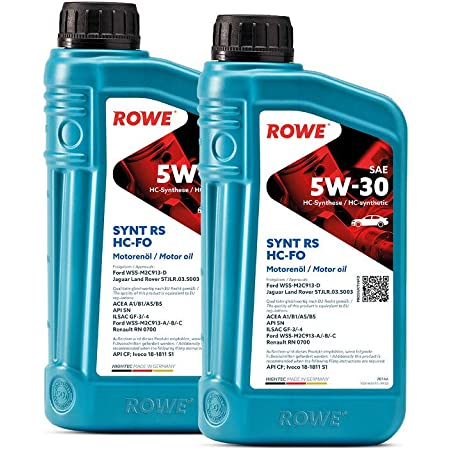 2 2x1l Liter Rowe Hightec Synt Rs Sae 5w 30 Hc Fo Motoröl Made In Germany Auto