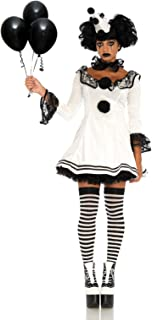 Leg Avenue Women's Black and White Sad Pierrot Clown Costume