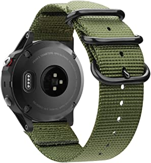 Fintie for Garmin Fenix 6 5 Band, Soft Woven Nylon Sport Strap Wristband for Garmin Fenix 6 Pro and Sapphire Edition/Fenix...