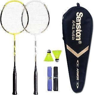 1 Pair Aluminum Alloy Badminton Practicing Racquets Set with Bag for Sport Training Entertainment VGEBY Badminton Rackets Set