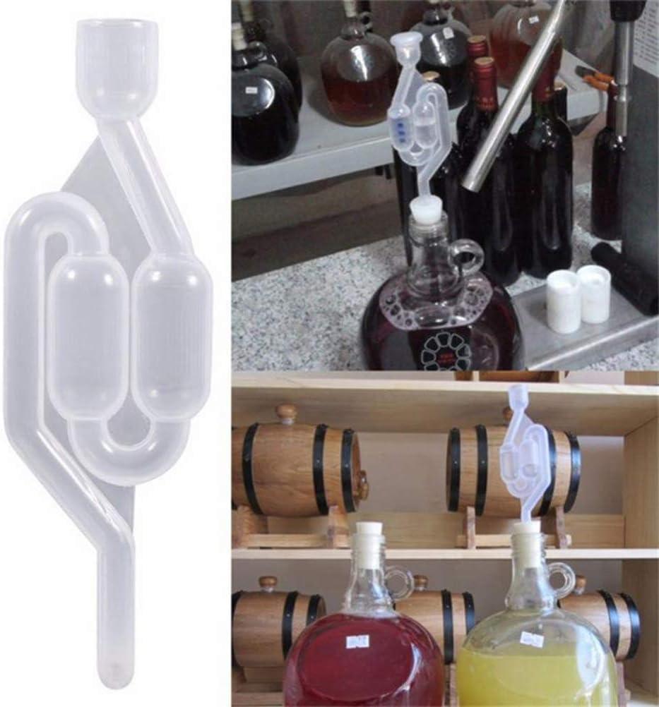 Juego de tubos de fermentación Tubo de fermentación Accesorio de fermentación Tapa de plástico para fermentación Conservación Elaboración de cerveza Elaboración de vino Chucrut Fermentación de kimchi
