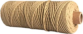 Pure Cotton Twisted Cord Rope Crafts Macrame Artisan String For Craftsmen And Handicraft Lover (Coffee)