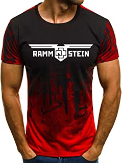 Printed Ramm Camouflage Stein T-Shirt Short-Sleeved Round Neck Fashion Casual Tops