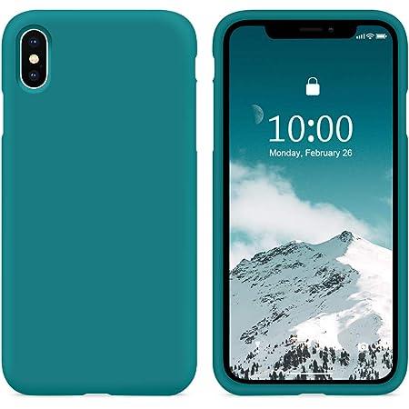 SURPHY Cover Compatibile con iPhone XS, Cover Compatibile con iPhone X, Custodia per iPhone X XS Silicone Cover Antiurto con Fodera in Microfibra Full ...