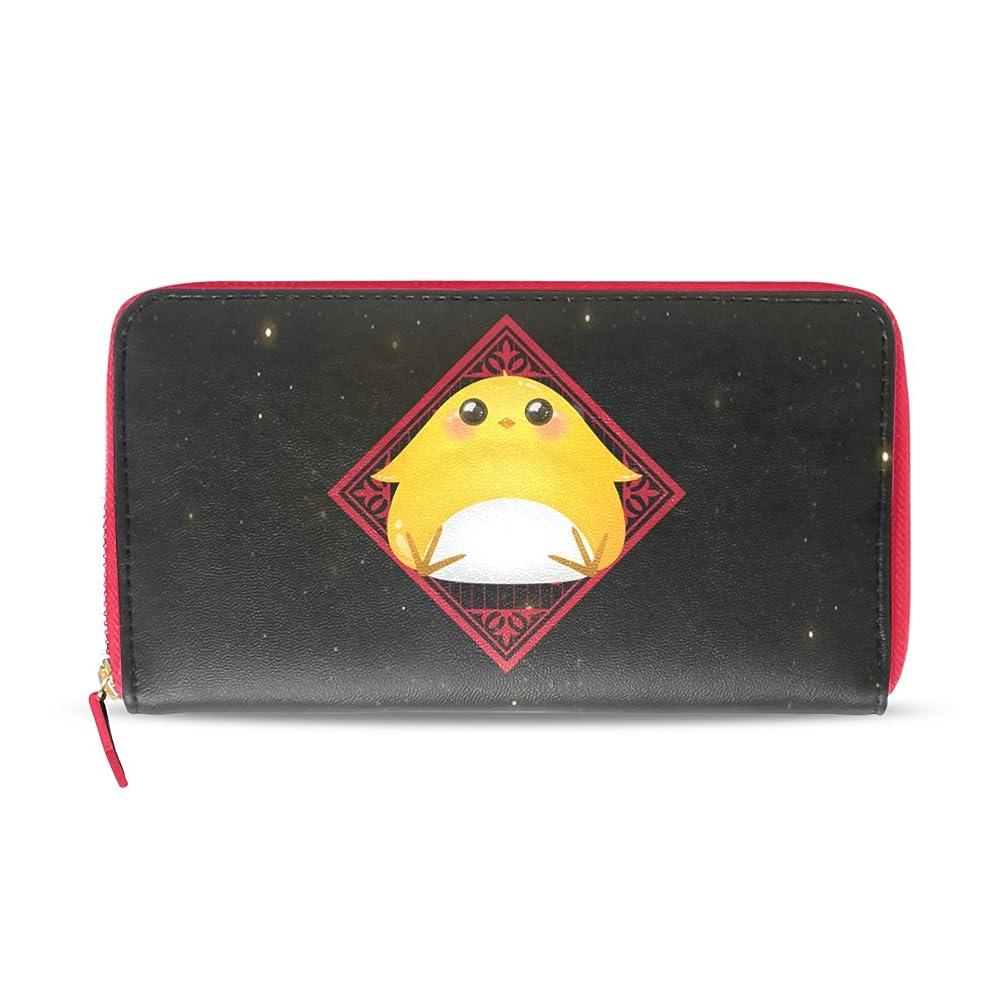 アルファベット約ぶどうAOMOKI 財布 レディース 長財布 大容量 鶏 中国風 ブラック 星空 ラウンドファスナー PUレザー 幅20*丈11cm