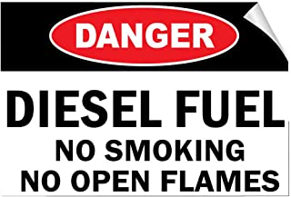 Danger Diesel Fuel No Smoking No Open Flames Style A Label Decal Sticker 10 Inches X 14 Inches