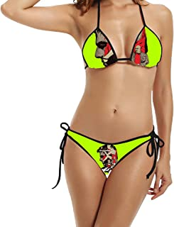 Women's Mission Impossible Rogue Nation Poster 2006 Swimsuit Bikini Black