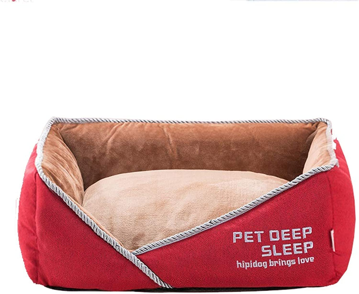 FJH Removable And Washable Four Seasons Universal Small Medium Dog Dog Winter Warm Pet Supplies (color   Red, Size   LARGE)