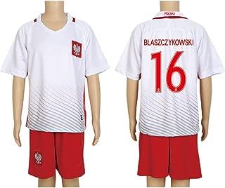 2016 UEFA Euro #16 Blaszczykowski Red Home Kids Soccer Jersey & Short Kit Set