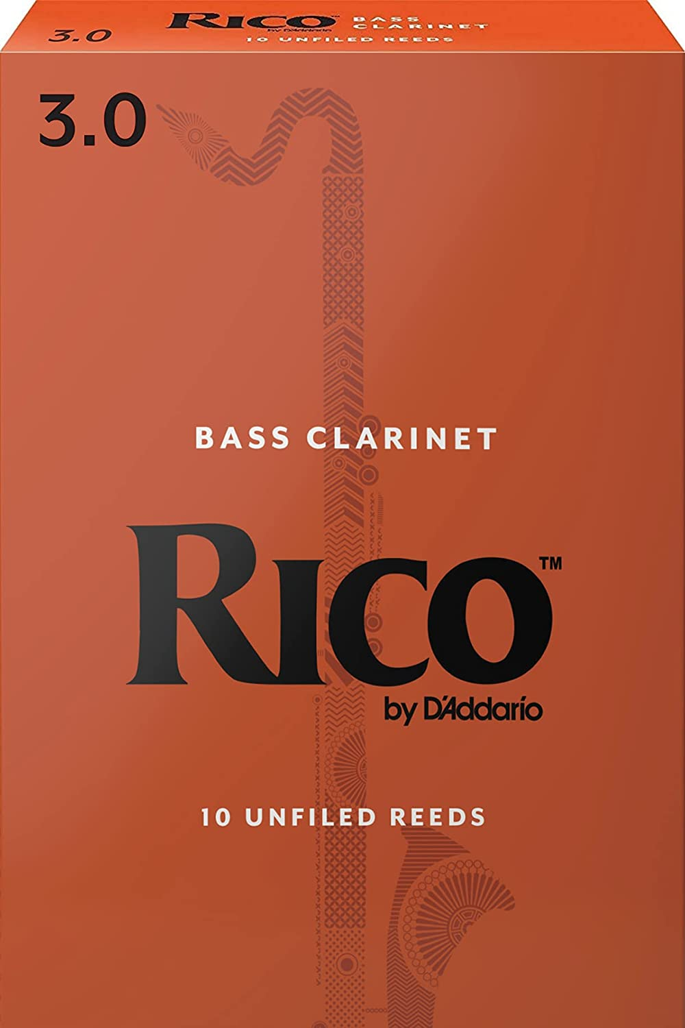 Rico Bass Clarinet Some reservation Reeds 3.0 Strength Fixed price for sale 10-pack