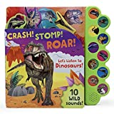 Crash! Stomp! Roar! Let s Listen To Dinosaurs! 10-Button Sound Book, Gifts For Little Dino Lovers, Ages 2-7
