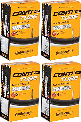 Continental  Inner Tube Tour All 28quot Presta 42mm SV  Set of 4