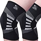 Knee Compression Sleeves (1 Pair) - Support for Arthritis Prevention & Recovery (X-Large, Grey)