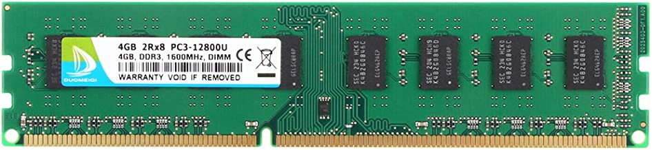 4GB DDR3 RAM, DUOMEIQI 1600MHz PC3-12800 UDIMM 240-pin RAM Memory for Desktop Computer
