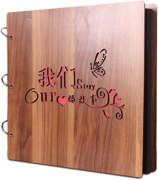 JSBHS Handmade DIY Wooden Cover Scrapbook Vintage Album Max 62% OFF F discount