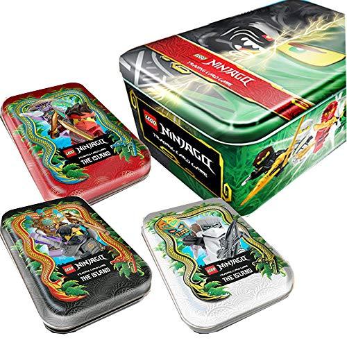 Lego Ninjago - Serie 6 Trading Cards - Alle 4 Tins Komplett Paket + Collect-it Sleeves - Deutsch
