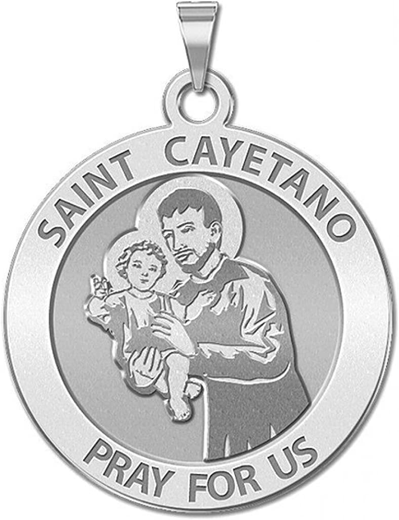 Max 45% OFF PicturesOnGold.com Saint Max 90% OFF Cayetano Round Religious Ye - 14K Medal