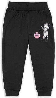 イーピン天城 Unicorn And Donuts 子供服 キッズ ロングパンツ ジュニア ズボン ロングパンツ ストレッチパンツ おしゃれ Black