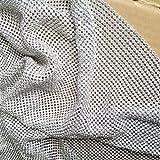 Creativesugar Craft Material Metal Rhinestone mesh Fabric cuttable for Clothing Bag Making Party Decorations (Silver Rhinestone)