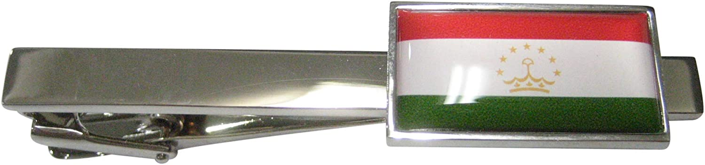 Kiola Designs Thin Bordered Republic of Tajikistan Flag Tie Clip