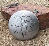 Tambor de acero inoxidable sin barnizar, con una sola vibración, estándar, 9 notas