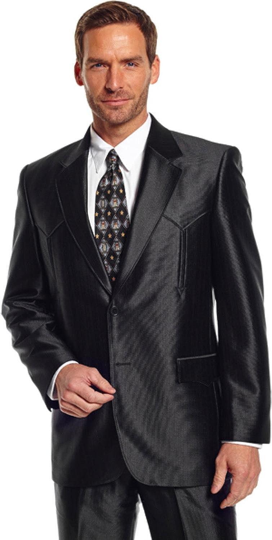 Circle S Western Sport Coat Mens Tulsa Arrow Details 48 L Black CC5091