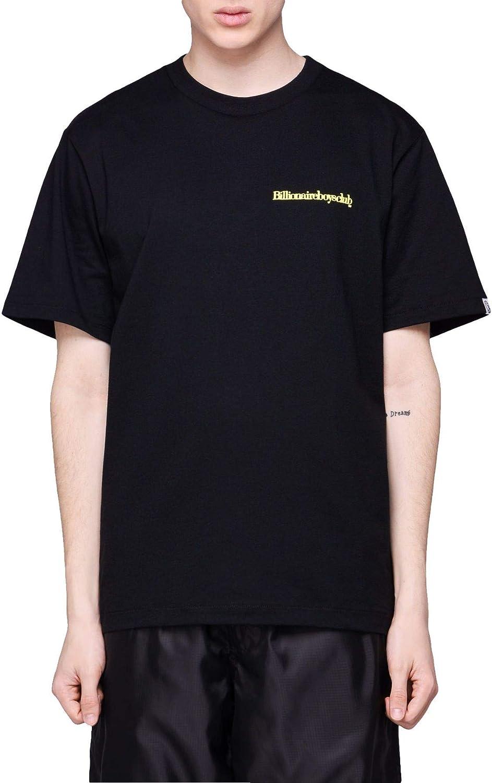 BILLIONAIRE BOYS CLUB Men's B19255BLACK Black Cotton TShirt