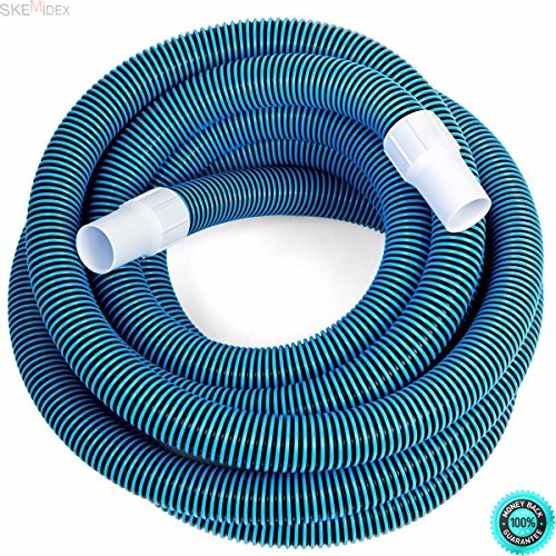 """COLIBROX--- Inground Pool Vacuum Automatic Pool Cleaners for inground Pools Best Suction Pool Cleaner Robotic Pool and Swimming Pool Deluxe 30FT No Kinks Vacuum Hose w/Swivel Cuff 1 1/2"""" Diameter"""