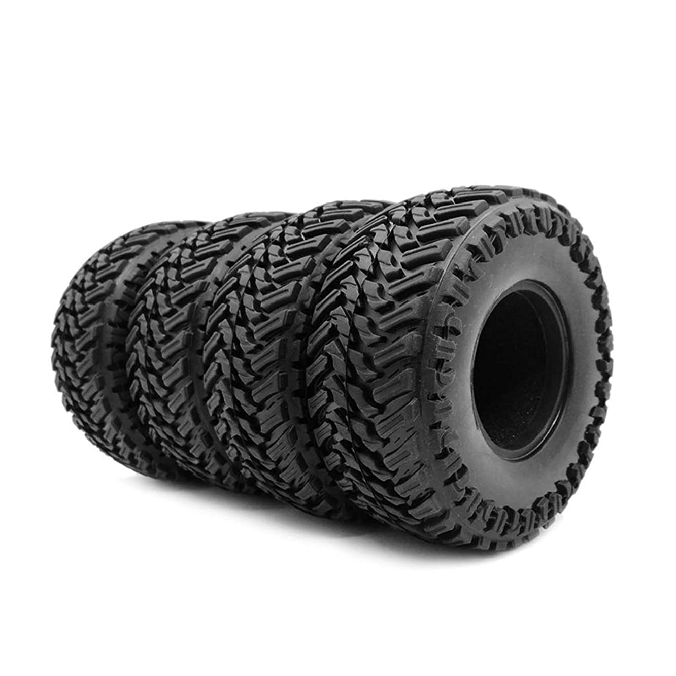 GMSP 4PCS 107mm 1.9inch Rubber Rocks Tyres Wheel Tires for 1:10 RC Rock Crawler Axial SCX10 90047 D90 D110 TF2 Traxxas TRX-4 S273