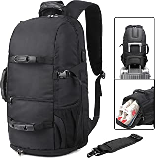 Travel laptop Backpack for 17.3 Inch Laptop Business Travel Duffel Backpack with Shoes Compartment Outdoor Sport backpack (strong handle black)
