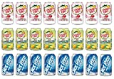 LUV-BOX Variety Diet Soda pack , pack of 24 , 12 fl oz , CANADA DRY CRANBERRY GINGER ALE , CANADA DRY GINGER ALE AND LEMONADE , RITE COLA