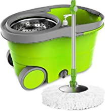 Mop,Household Free Hand Washing Mop Spinning Mop Bucket Double Drive Mopping Bucket